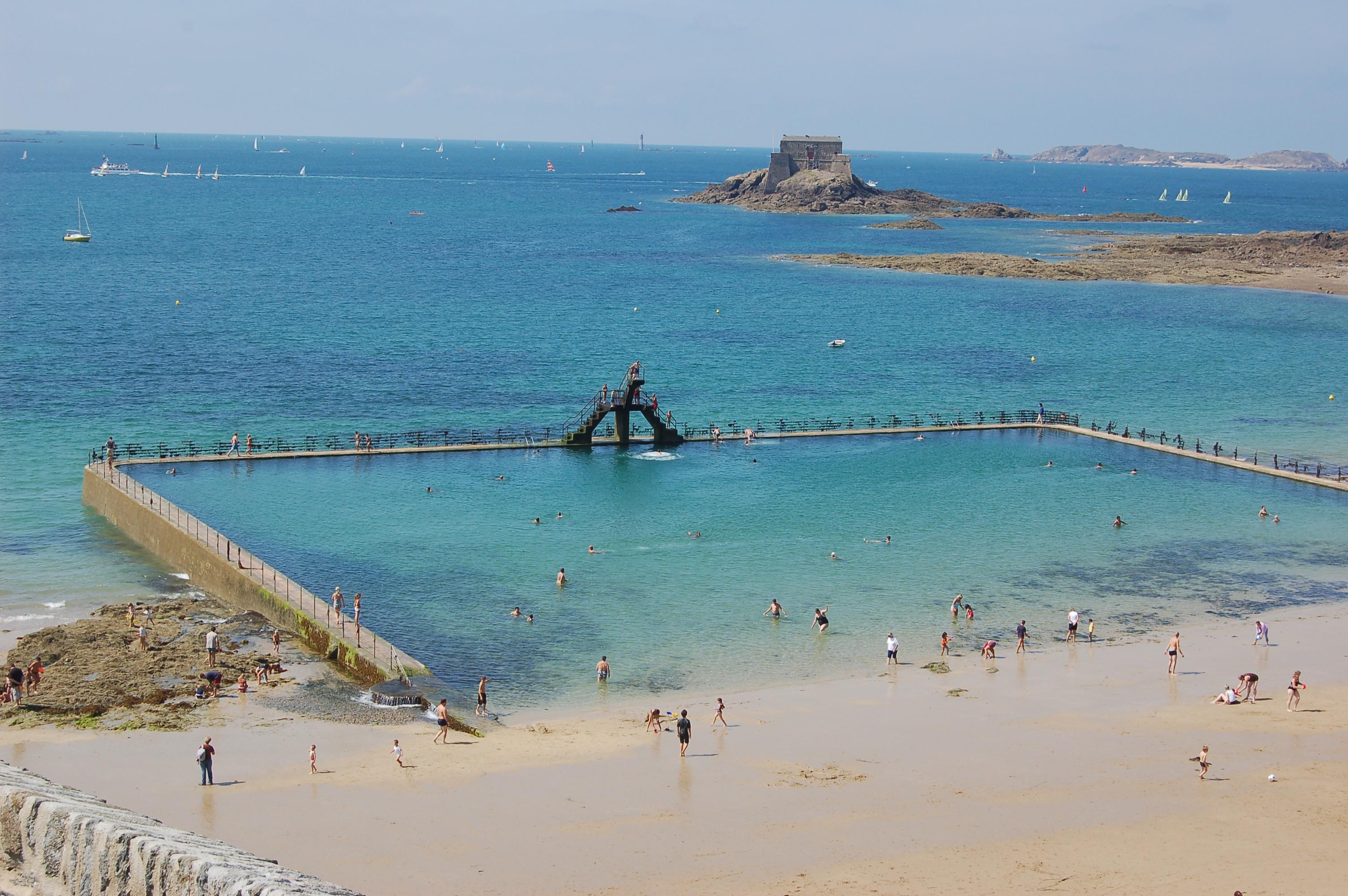 Saint - Malo - pláže po odlivu II.JPG
