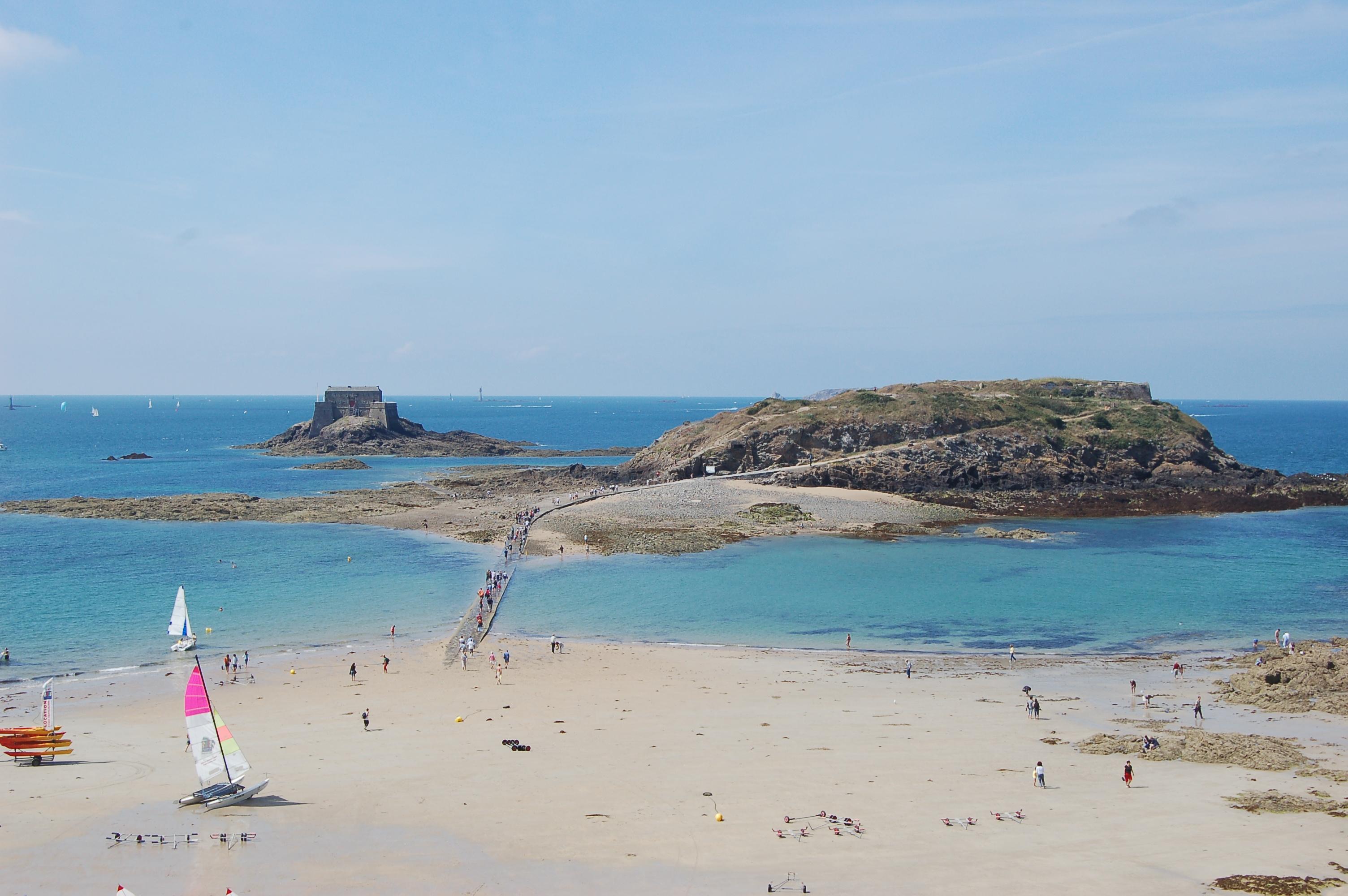 Saint - Malo - pláže po odlivu IIII.JPG