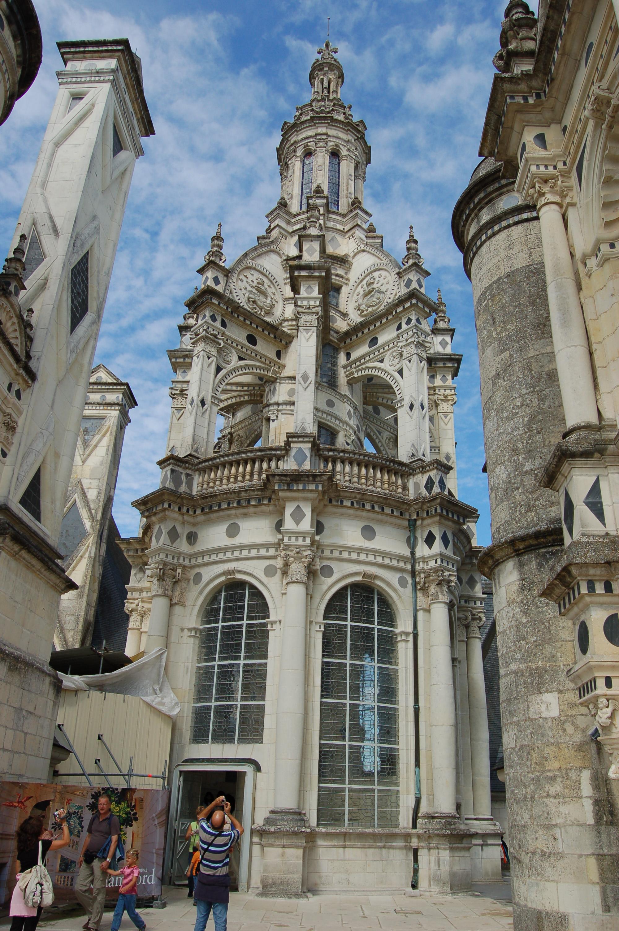 Chambord - věž od Leonarda Da Vinciho.JPG