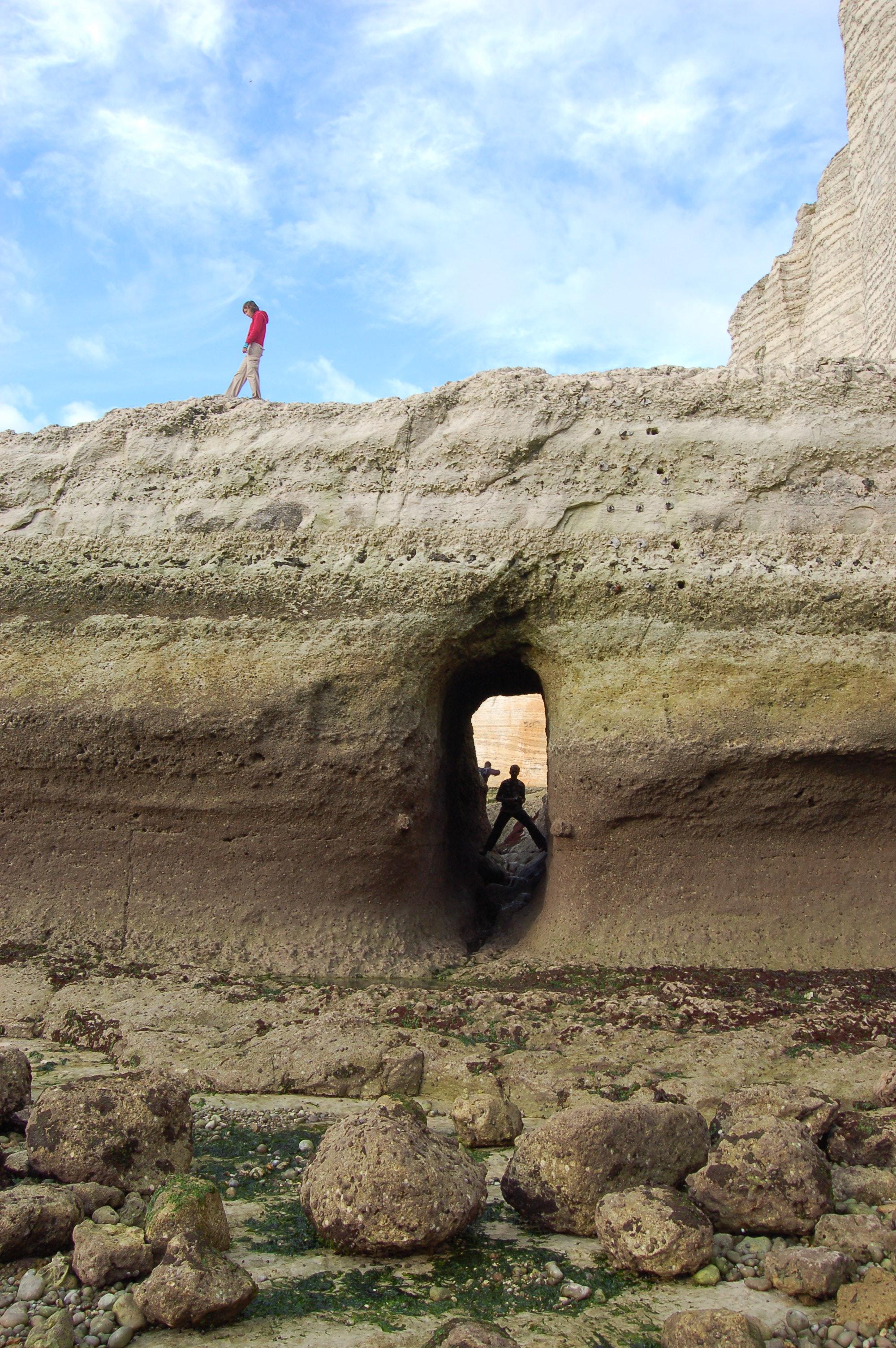 Etretat - pobřeží po odlivu IX.JPG