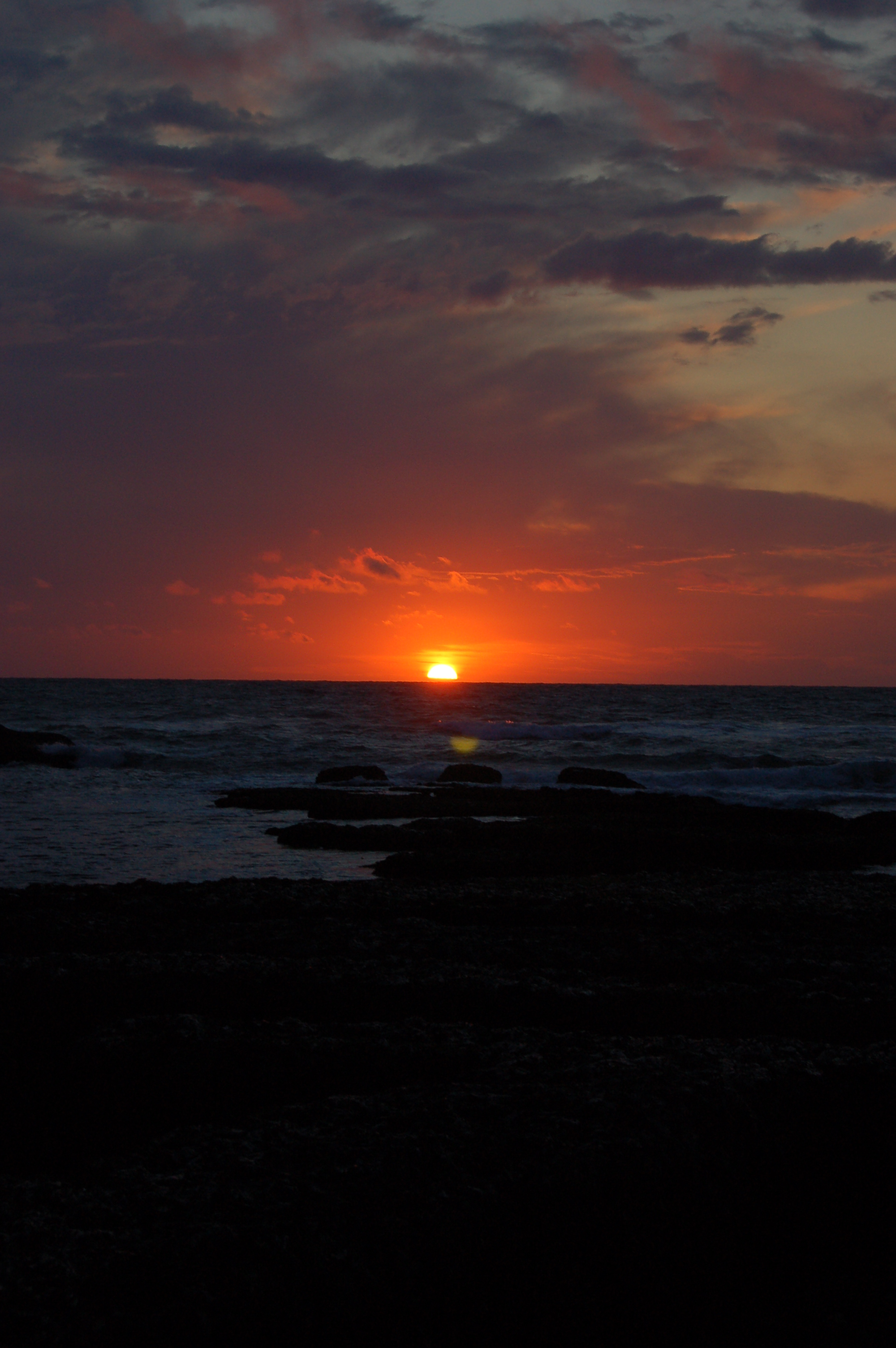 Etretat - západ slunce II.JPG