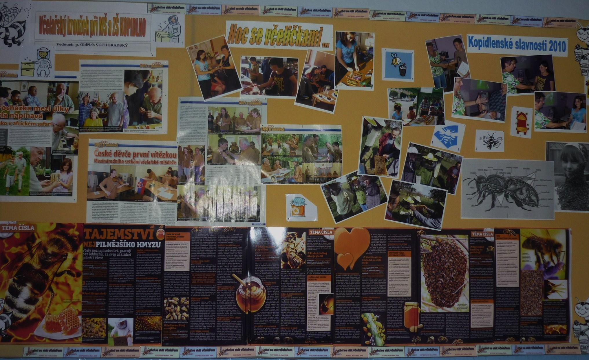 Propagační nástěnka na chodbě školy - březen 2010