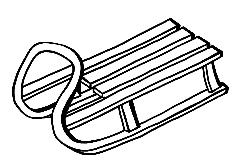 картинка санки для раскраски случае необходимости