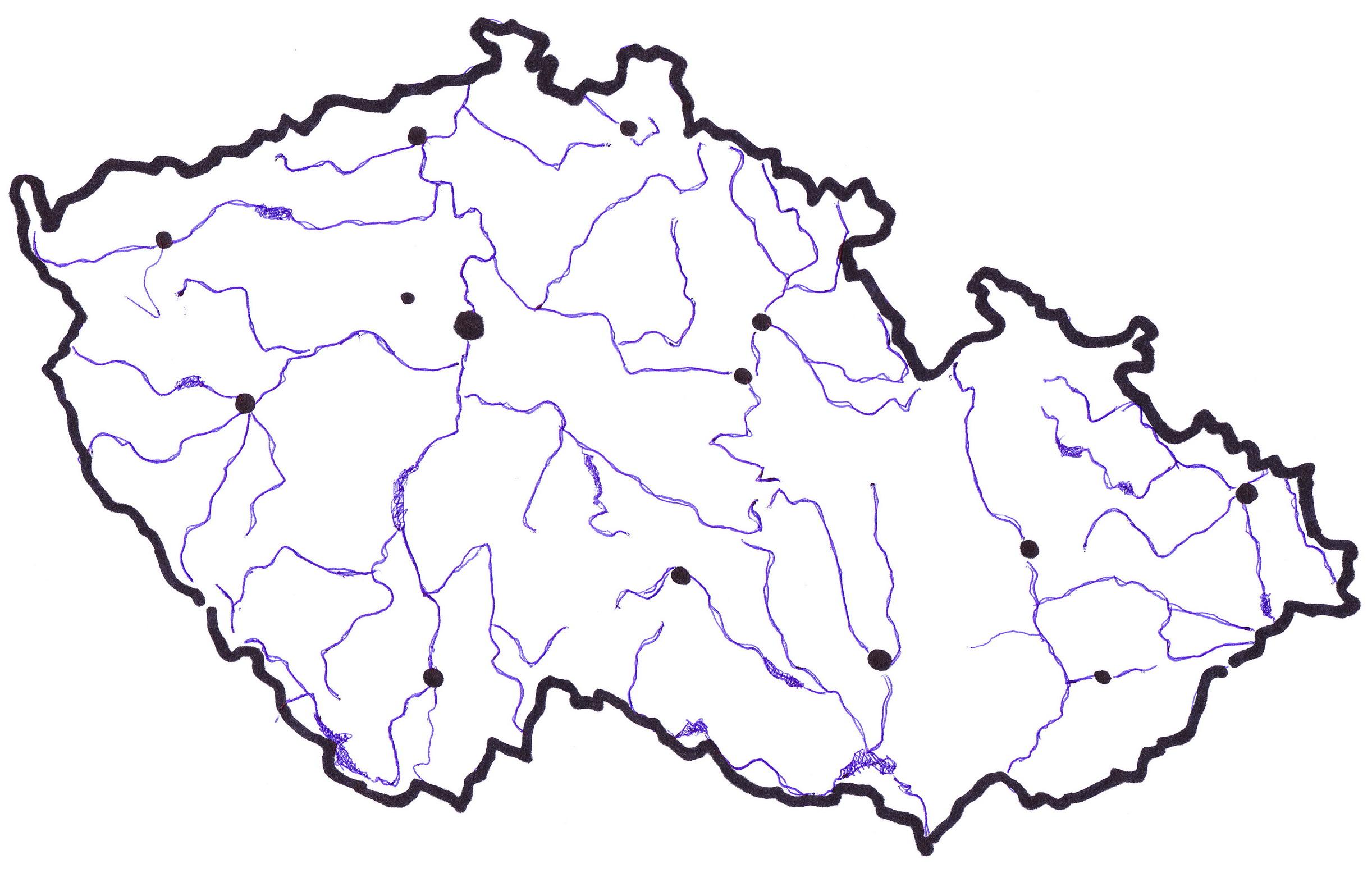 Mapa Slepa Mapa Vodstvo