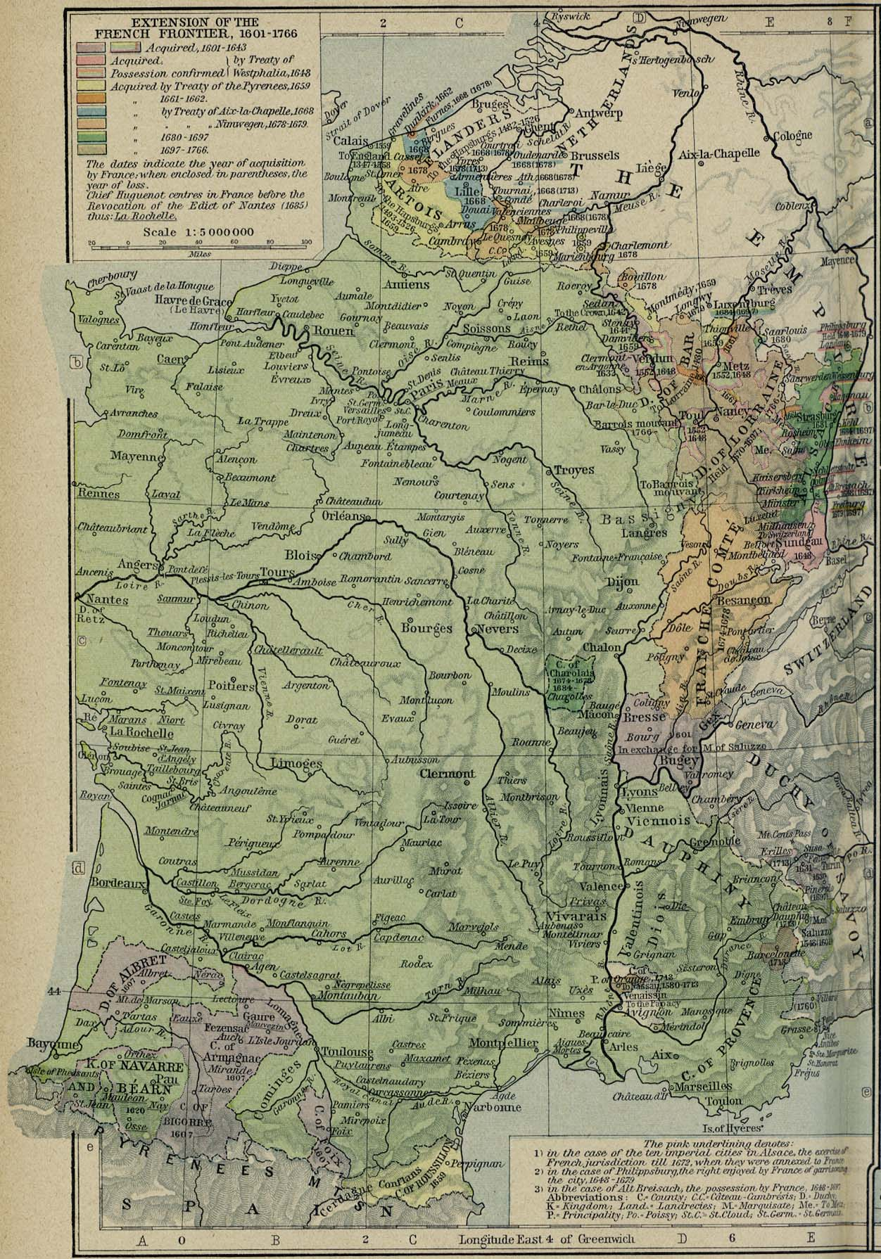 Historická mapa Francie