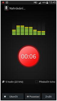 Screenshot nástroje Smart Voice Recorder