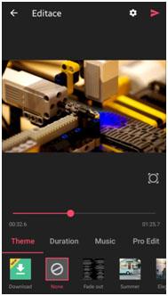 Screenshot nástroje VideoShow