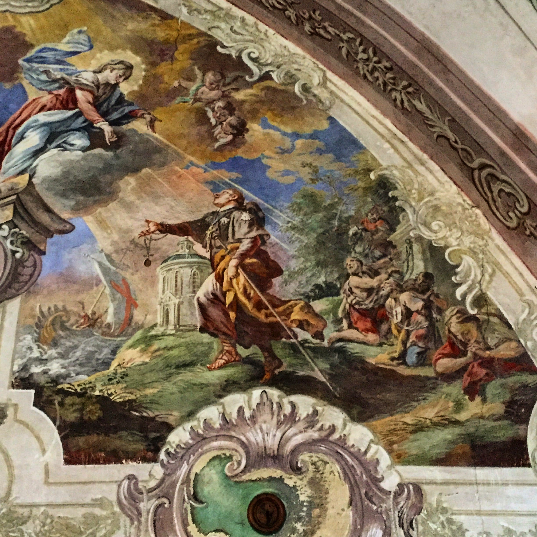 Klášter Chotěšov - freska s bl. Hroznatou