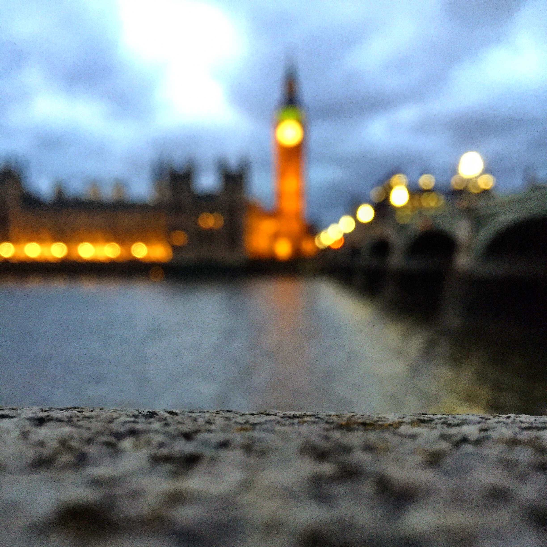 Westminster v podvečer