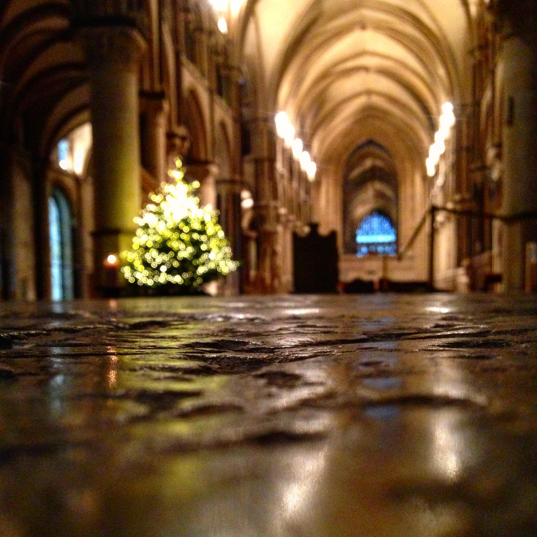 Katedrála v Canterbury před Vánoci 2015