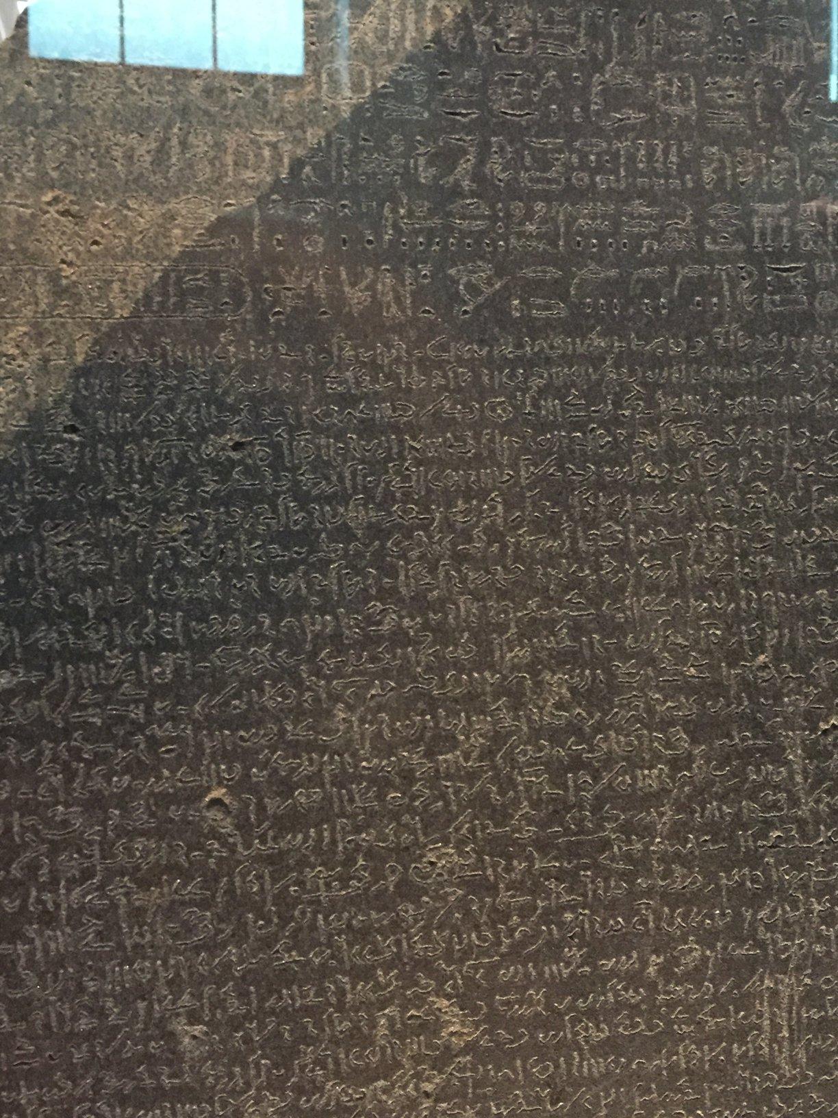 Rosettská deska - detail