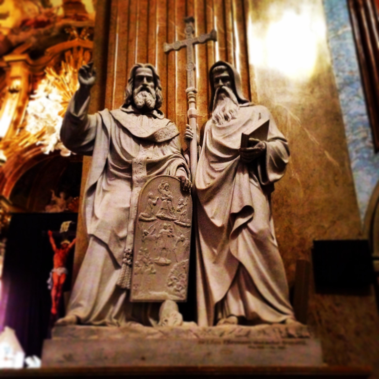 Z baziliky - sv- Cyril a Metoděj