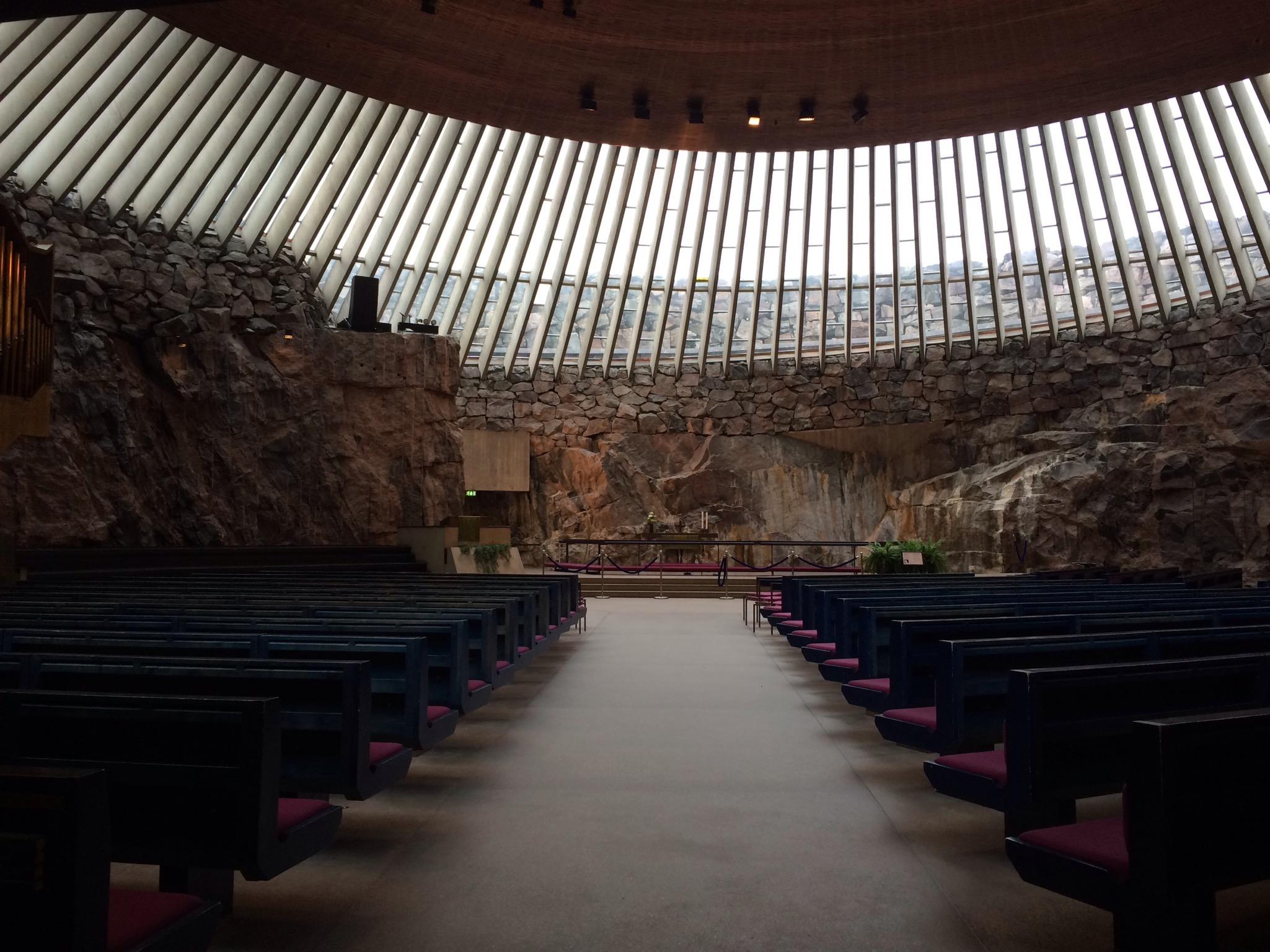 skalní kostel - Temppeliaukio kirkko