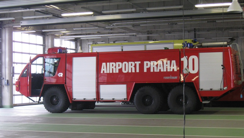 Hasiči na Letišti Praha