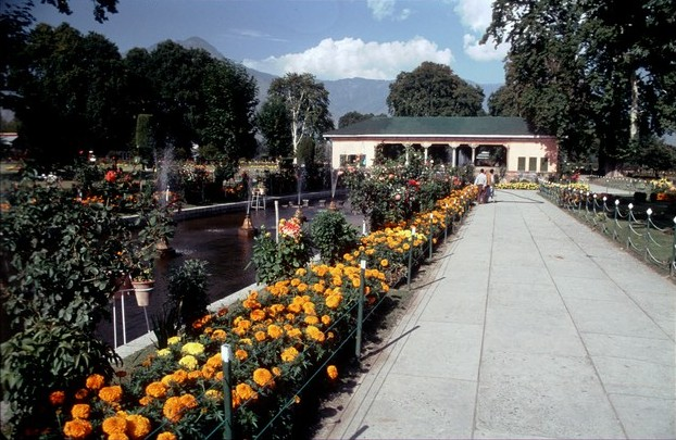 Kašmír Srinagar Mughalské zahrady