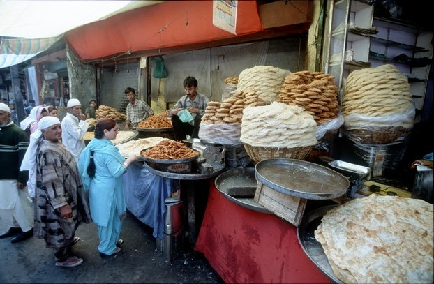Kašmír Srinagar tržiště