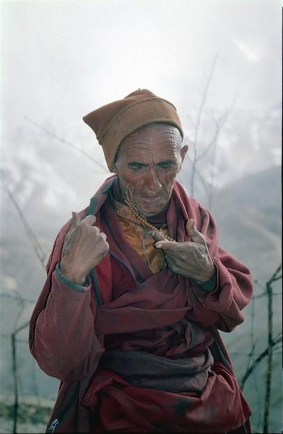 Budhistický mnich v Linshut