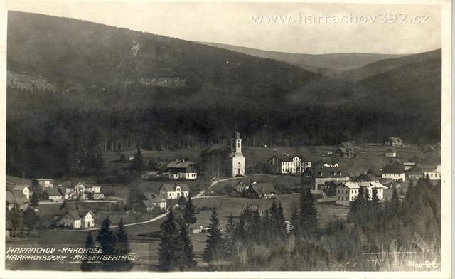 Hřebenka, před rokem 1934, letní pohled od dnešní sjezdovky