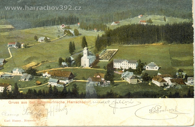 Hřebenka , před rokem 1934, letní pohled