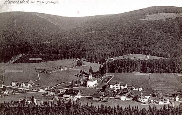 Hřebenka, před rokem 1934, letní pohled II.