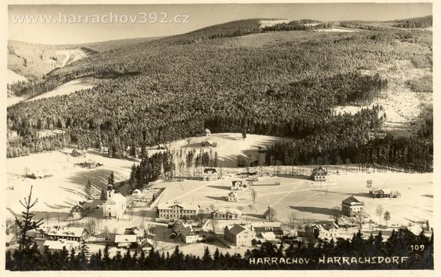 Hřebenka,před rokem 1934, zimní pohled