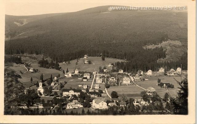 Hřebenka, letní pohled po roce 1934