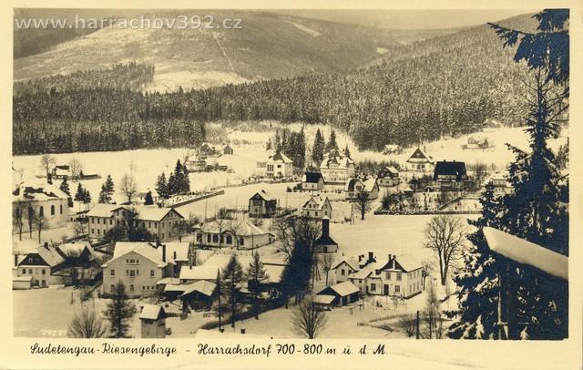 Hřebenka, zimní pohled po roce 1934