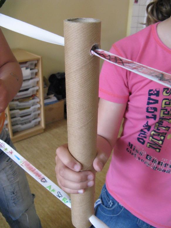 """Detail prostřední trubičky při """"přebarvování"""" (velké trubičky)"""