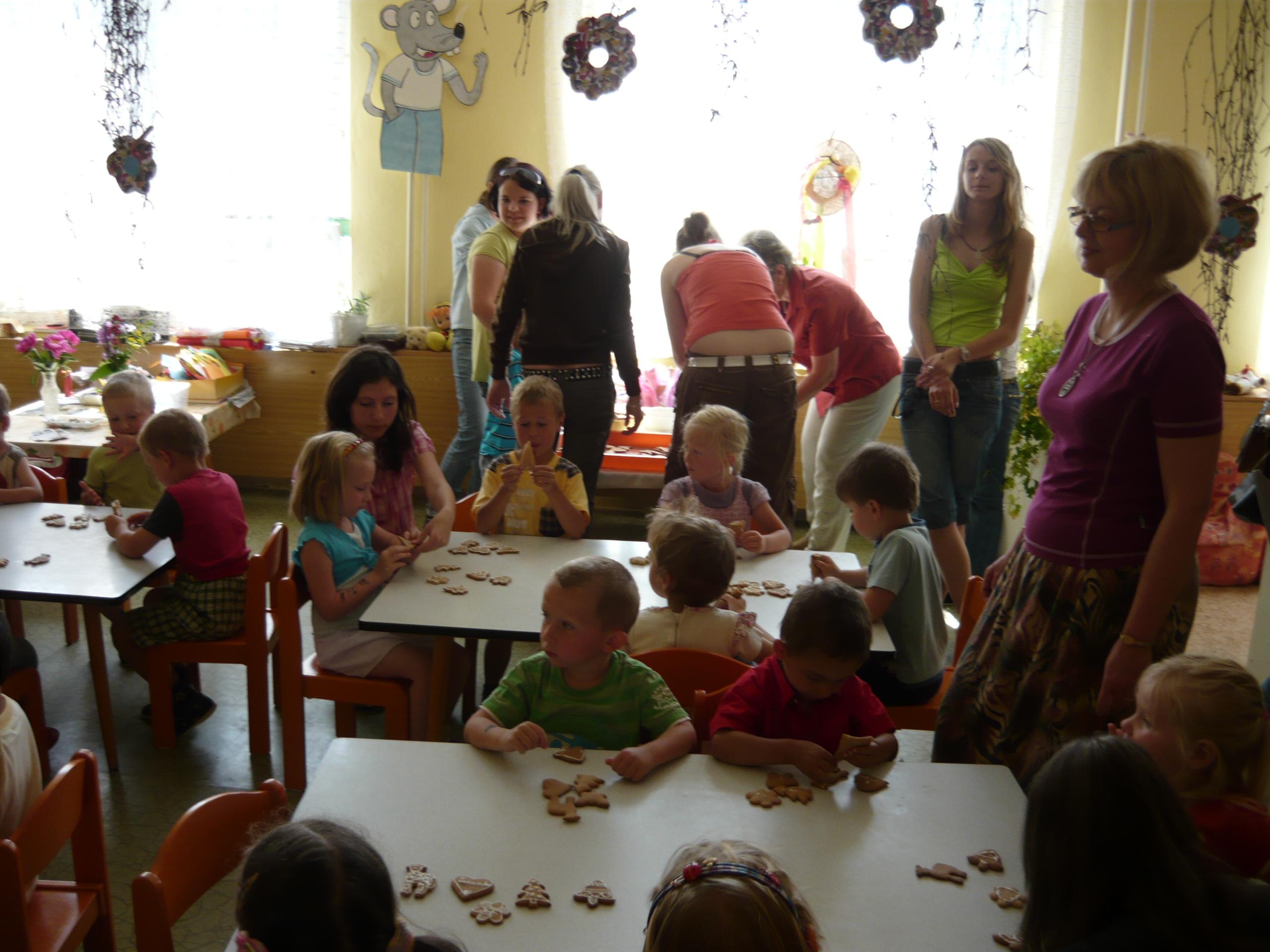Perníková dílna v mateřské škole v Kopidlně